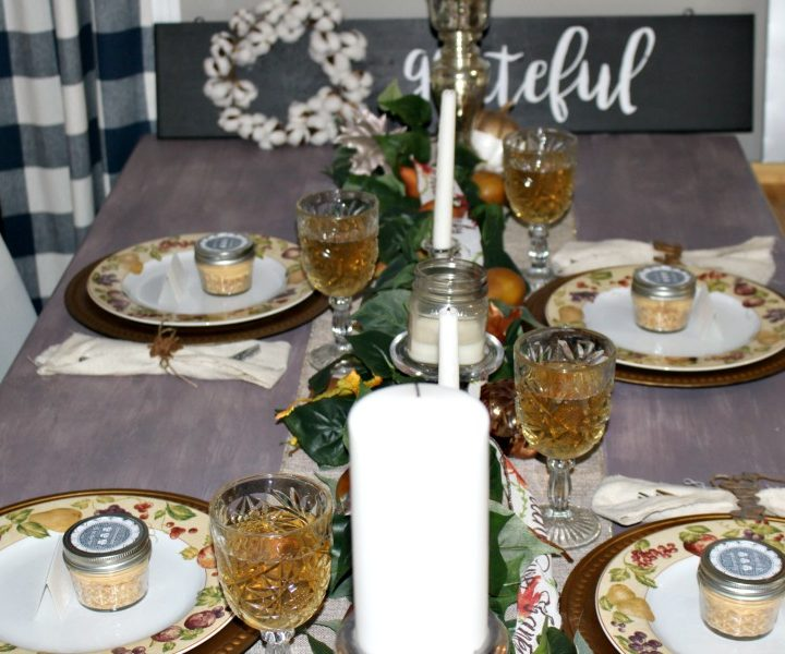 side angle thanksgiving table