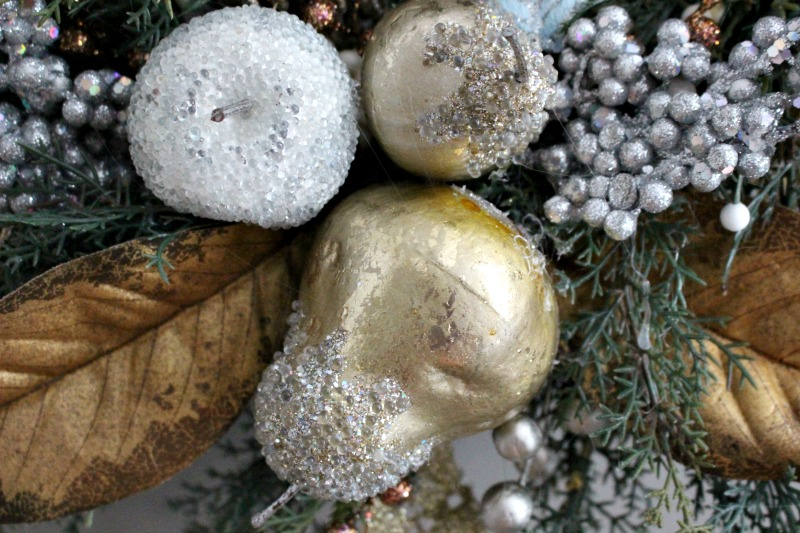 sugared pear close up