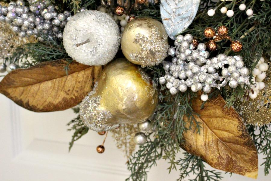 wreath close up fruit