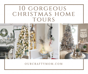 10 gorgeous christmas home tours Our Crafty Mom
