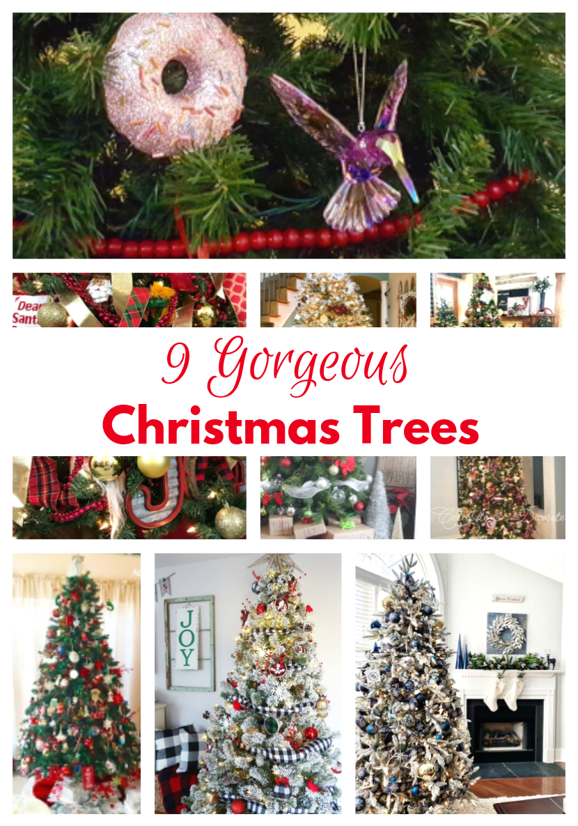 9 Gorgeous Christmas Trees Collage