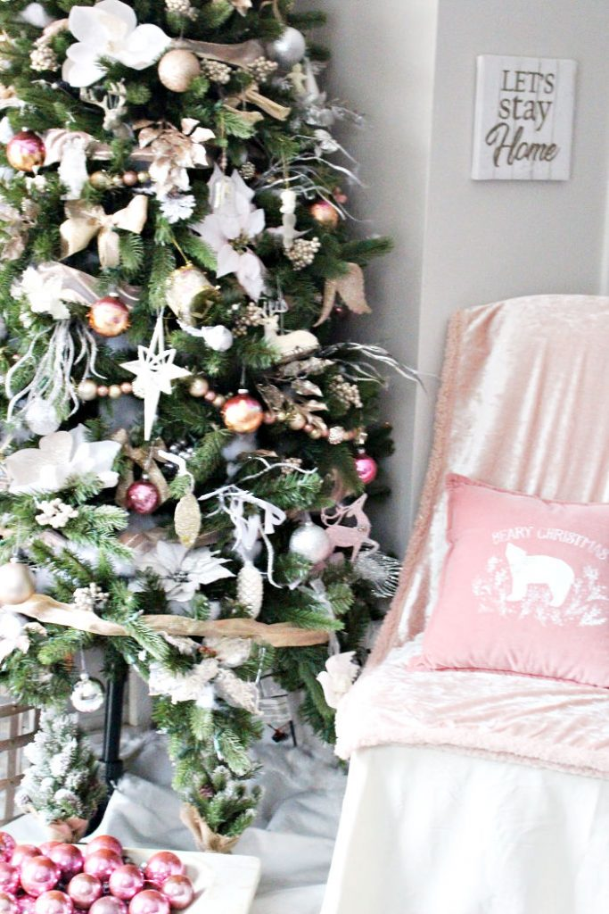 Blush And Metallics Christmas Tree Our Crafty Mom