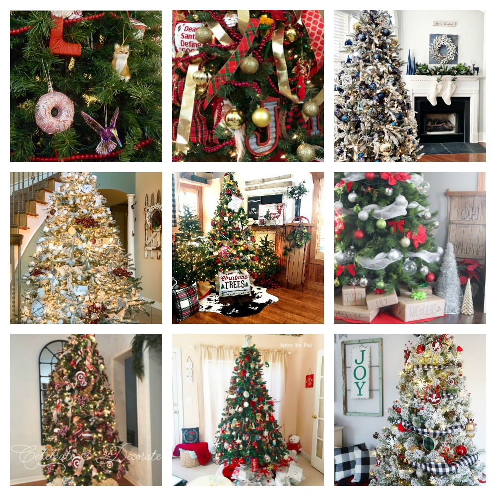 Collage of Christmas Trees Sunday Bloggers