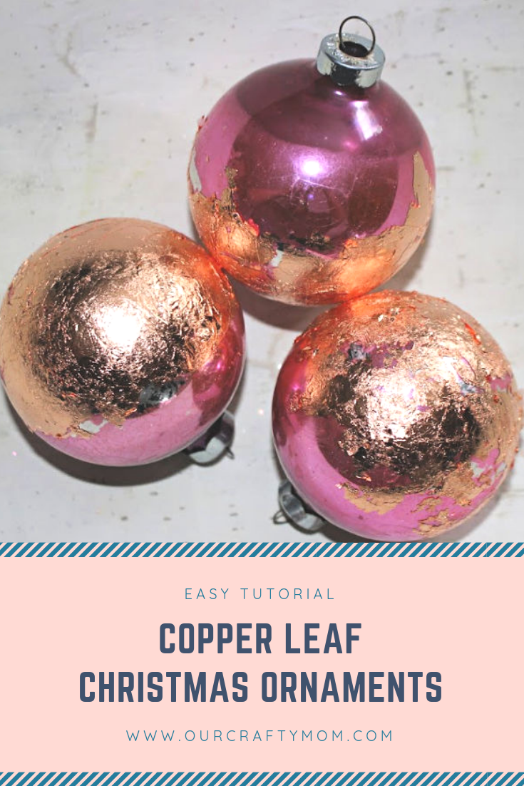 Copper Leaf Christmas Ornaments