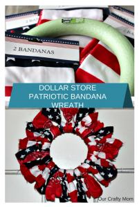 Fourth of July Bandana Wreath Our Crafty Mom