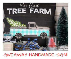 Giveaway Handmade Sign Our Crafty Mom