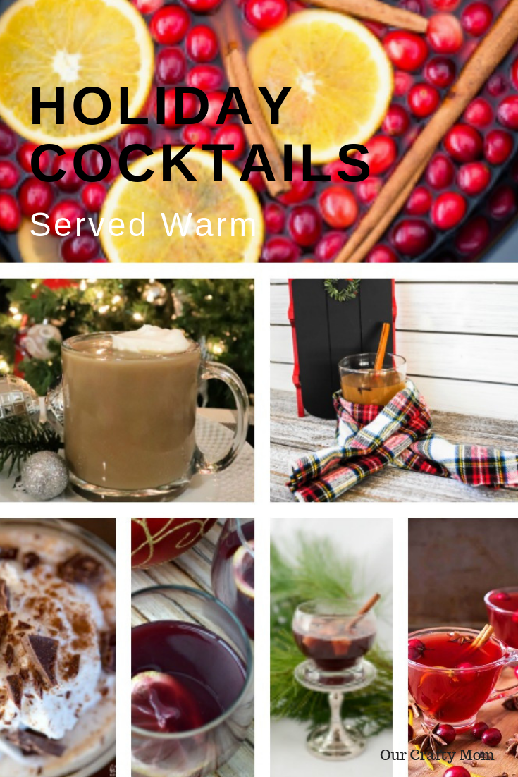 HOLIDAY COCKTAILS served warm