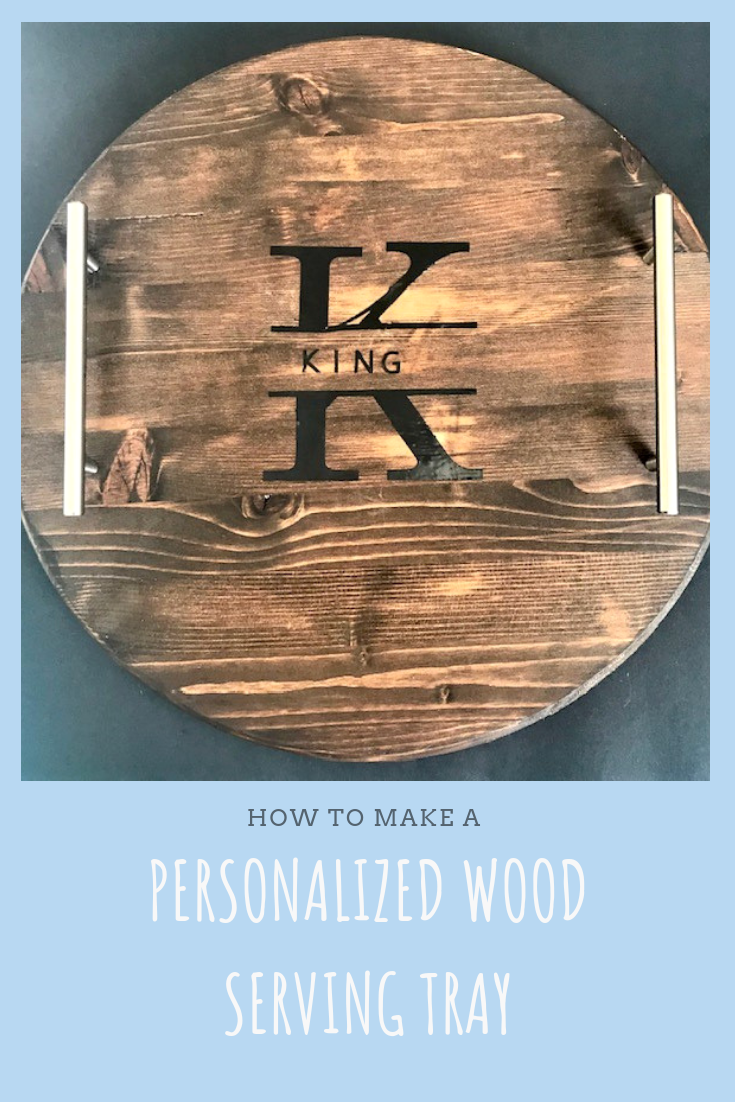 This personalized wood serving tray will look great in any home and also makes a great gift idea for Christmas, weddings or any other occasion. Let me show you how easy it is to make!