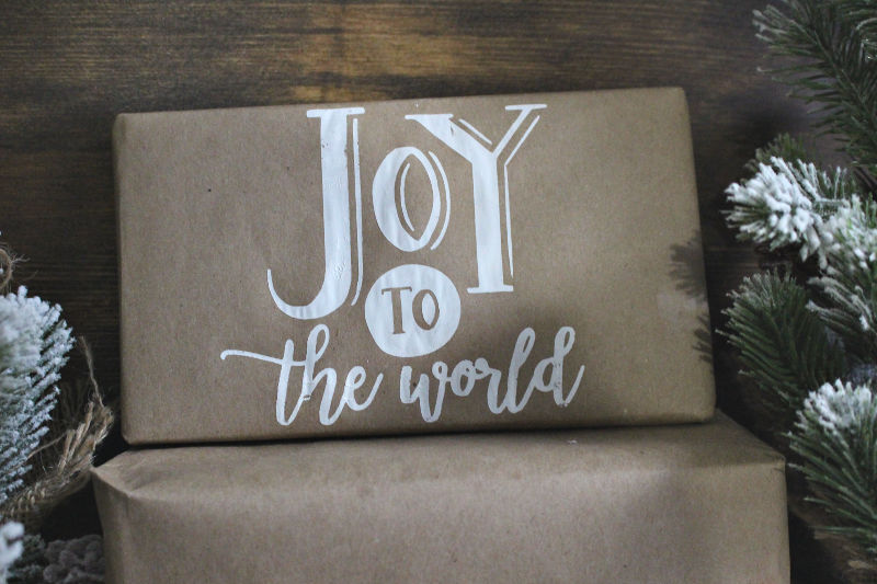 Joy Chalked on present