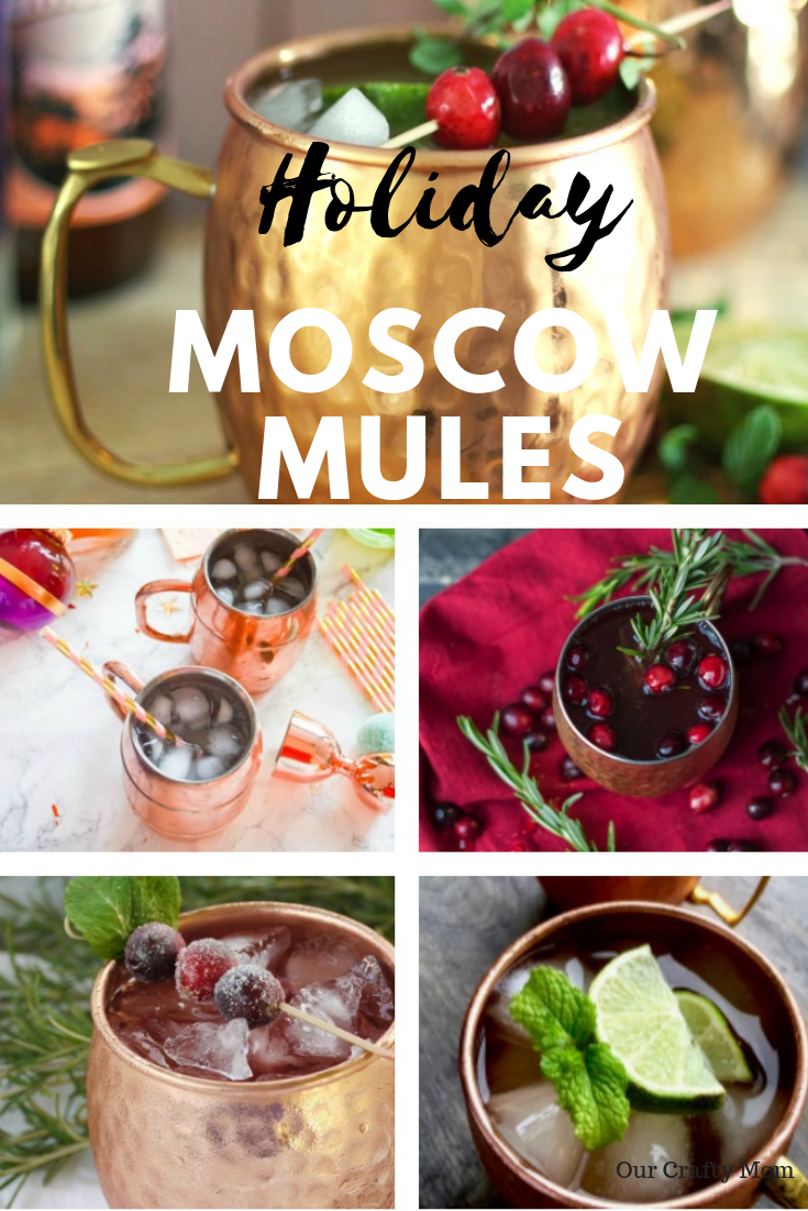 Holiday Moscow Mules Our Crafty Mom