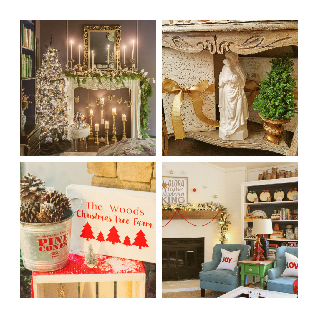 christmas home tour collage group