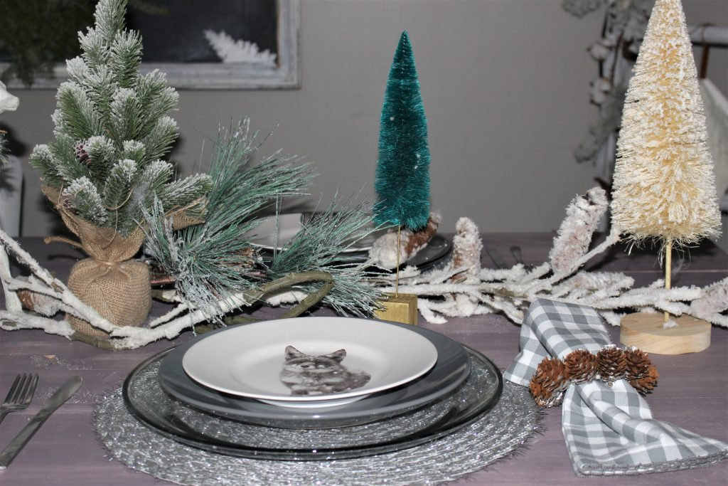 christmas tablescape fox