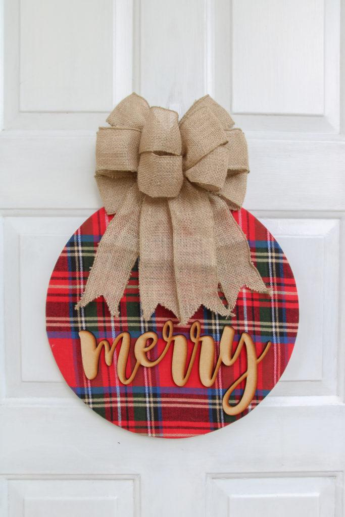 Simple Cozy Christmas Wreath