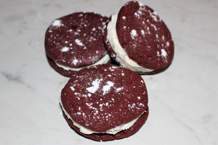 whoopie pie close up