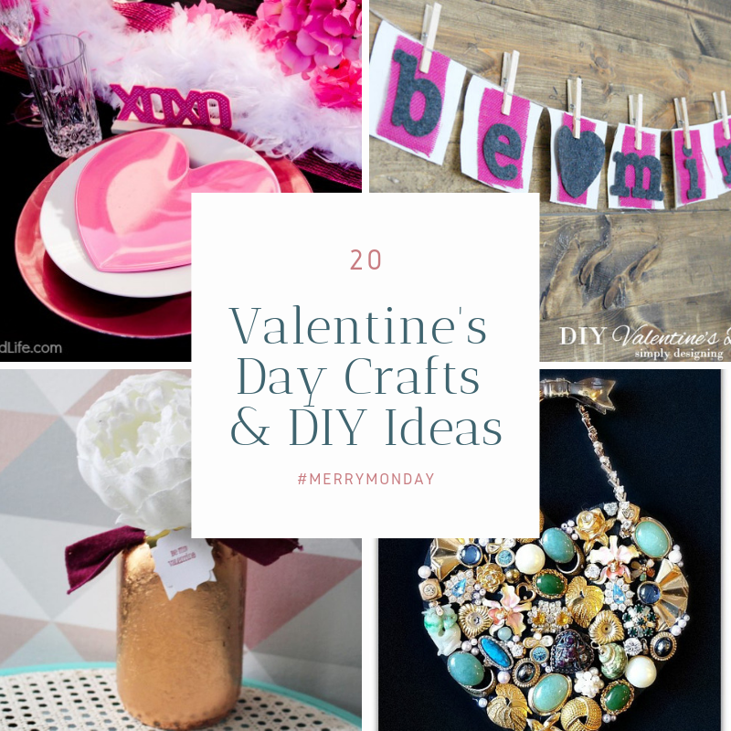 Valentine's Day Crafts & DIY Ideas Our Crafty Mom Merry Monday