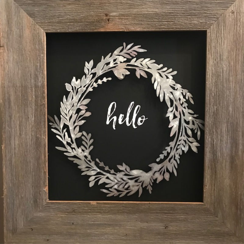 Barnwood Wreath Frame Our Crafty Mom