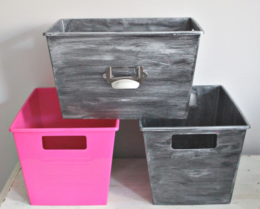 Before and After Dollar Store Bins Our Crafty Mom