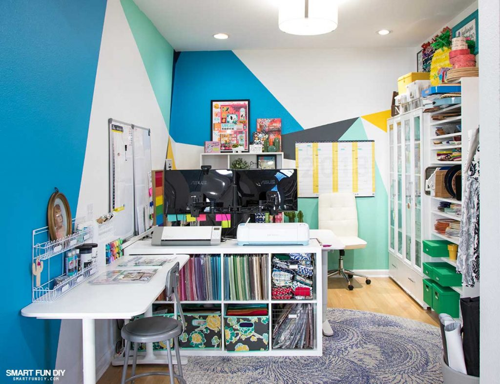 DIY-craft-room-Ikea-Office-