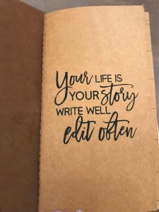 Quote on Journal Our Crafty Mom