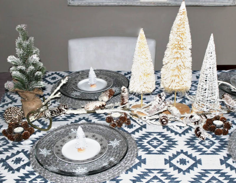 Winter Tablescape Rustic Elements