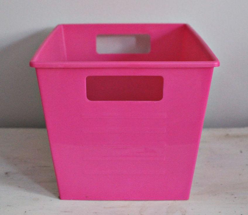 pink dollar store bin ourcraftymom