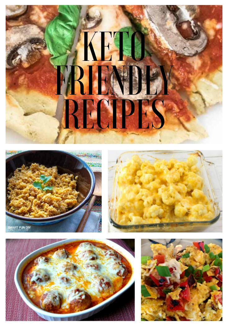 Keto Friendly Recipes Collage