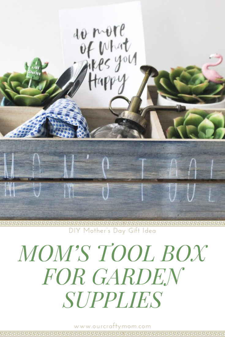DIY Mom's Tool Box Gift Idea And Win A Cricut For You & Mom!