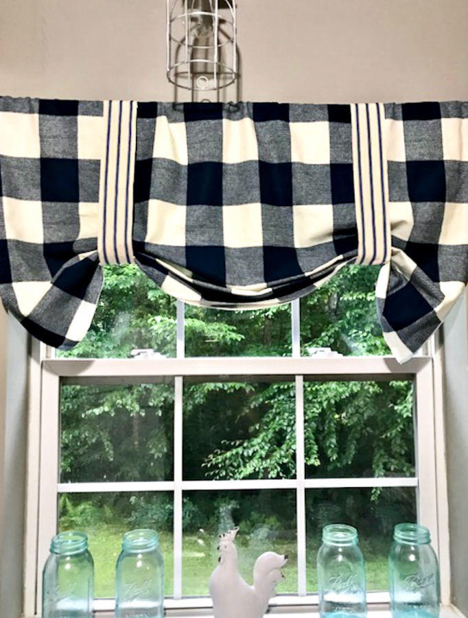 DIY-Buffalo-Check-No-Sew-Valance