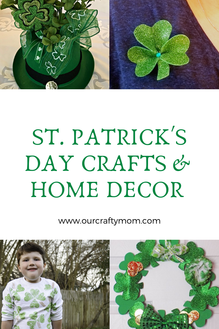 St. Patrick's Day Crafts And Home Decor #ourcraftymom #stpatricksday