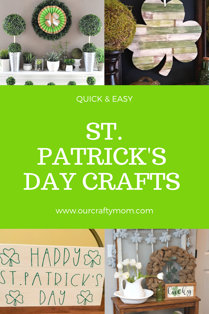 Easy St. Patrick's Day Crafts #ourcraftymom #stpatricksday