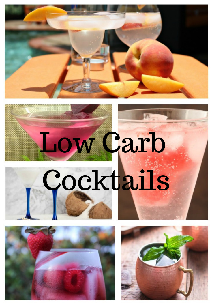 Low Carb Cocktails Vodka or Rum Based #ourcraftymom #lowcarb #lowcarbcocktails