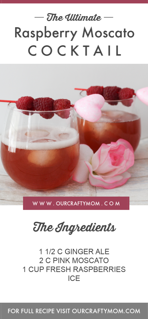 Make A Valentine's Day Raspberry Moscato Cocktail Our Crafty Mom