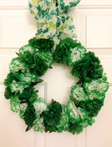 St. Patrick's Day Wreath - Our Crafty Mom