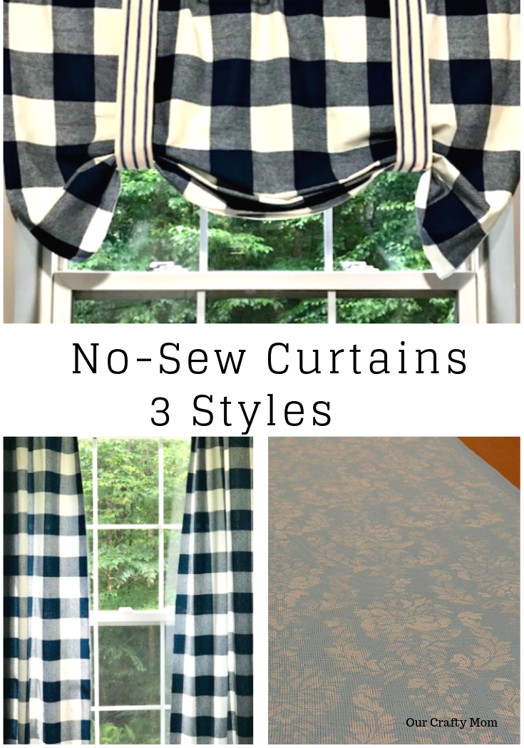 No-Sew Curtains 3 Options Our Crafty Mom