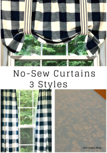 No-Sew Curtains 3 Different Options Our Crafty Mom