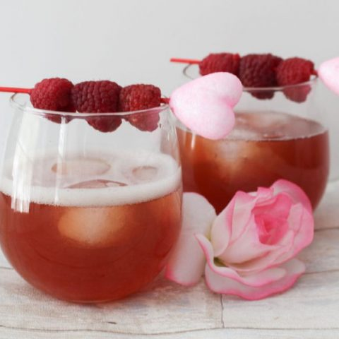 Valentine's Day Raspberry Moscato Cocktail Our Crafty Mom