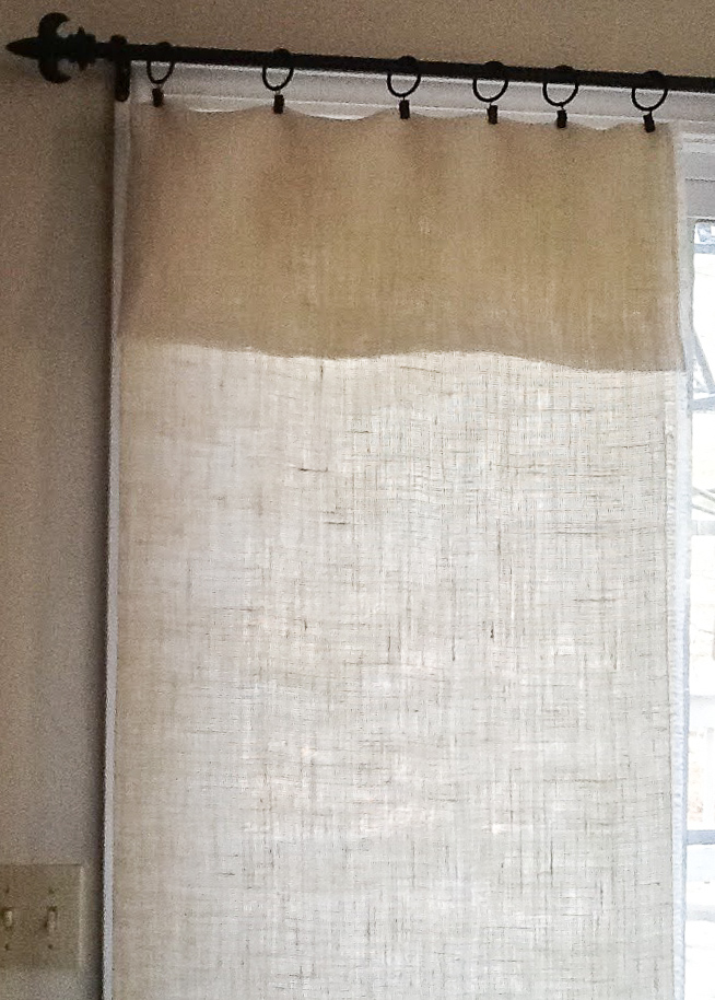 burlap curtains with ruffle top
