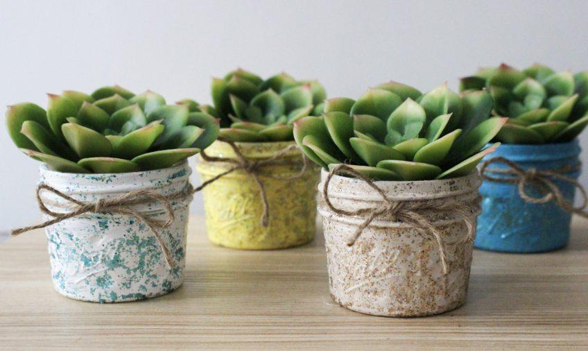 mason jar succulent planters set of four
