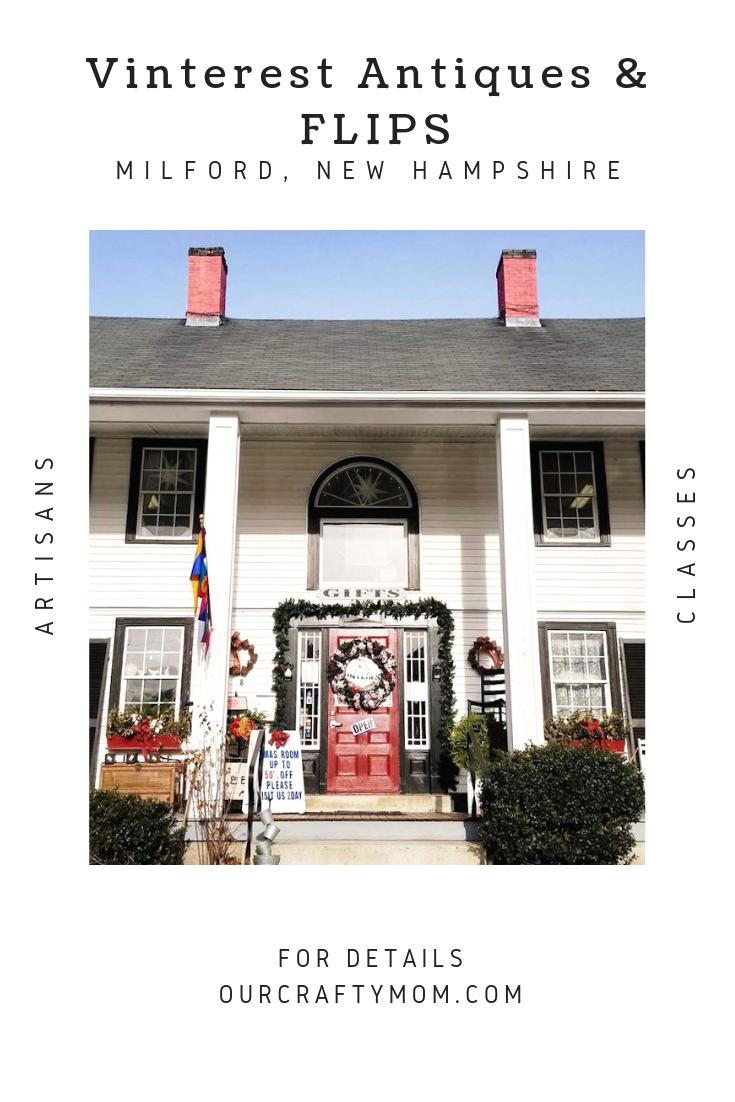 Antiquing In New Hampshire Spotlight on Vinterest Antiques & Flips in Milford, New Hampshire #ourcraftymom #visitnewhampshire #antiquing #thriftstores