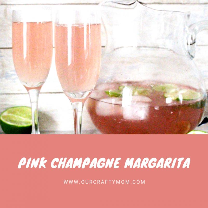 Sparkling Pink Champagne Margarita #ourcraftymom