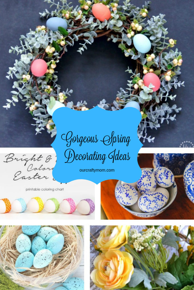 12 Gorgeous Spring Home Decorating Ideas To Inspire You #ourcraftymom #springdecor #springdecorating
