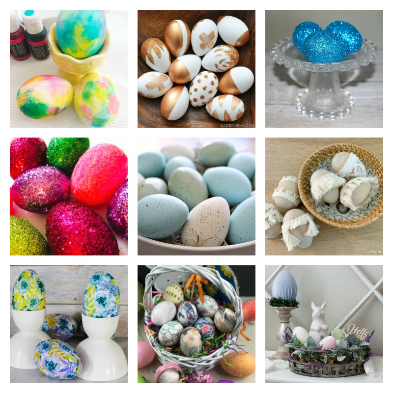 Easter Egg Decorating Ideas Our Crafty Mom
