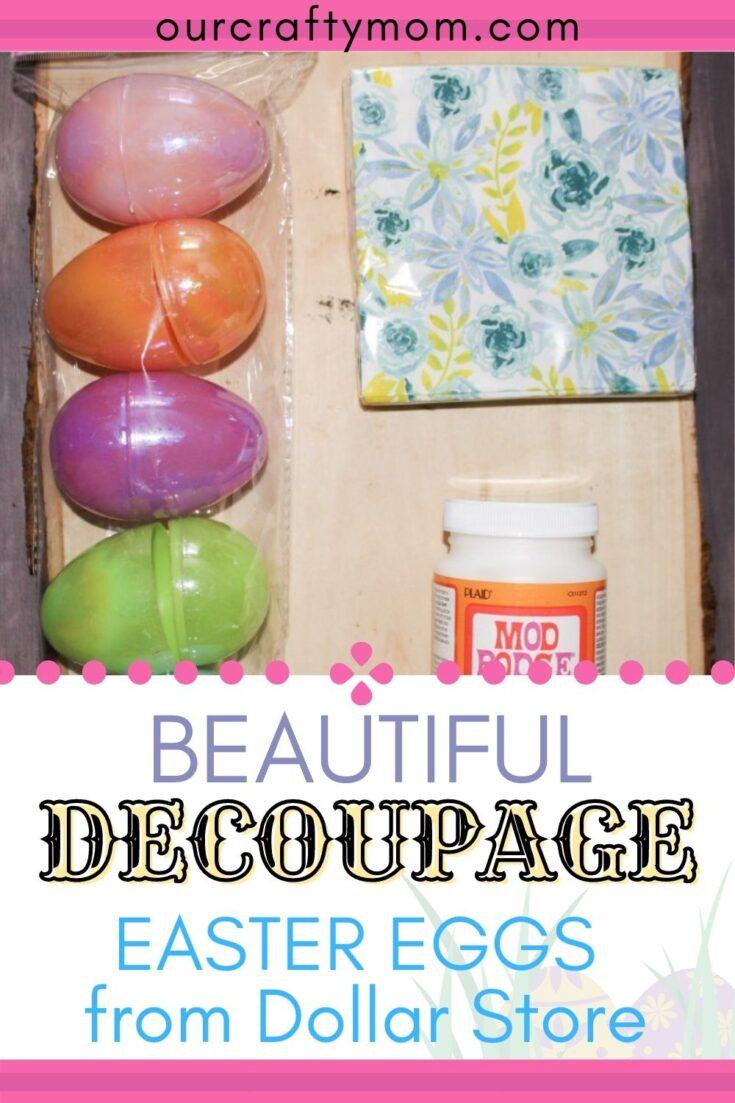 decoupage easter egg supplies