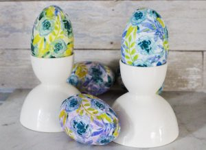 Mod Podge Napkin Easter Eggs Our Crafty Mom