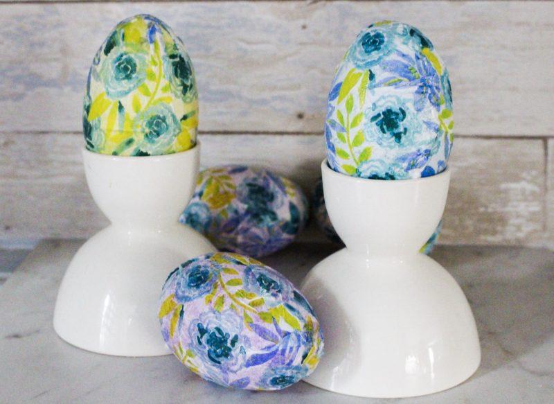 Mod Podge Napkin Easter Eggs Our Crafty Mom