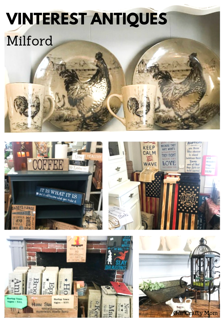 Antiquing In New Hampshire - Spotlight On Vinterest Antiques #ourcraftymom #visitnewhampshire