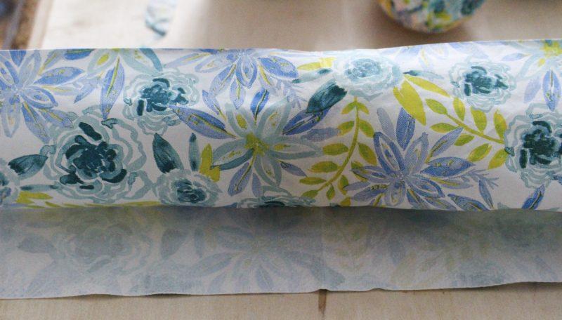 napkins with foam brush on egg