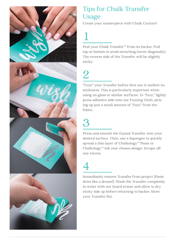 chalk couture transfer tips