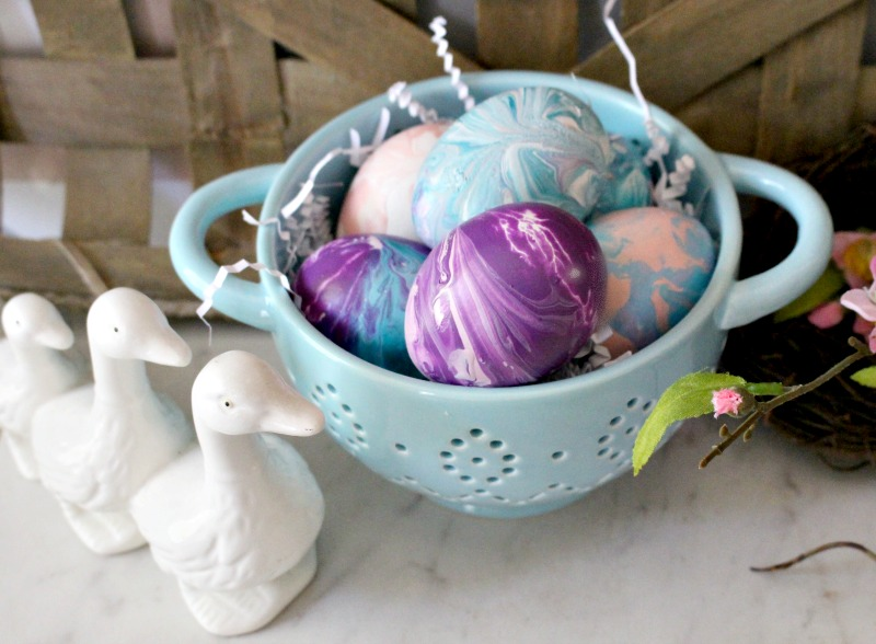 Paint Poured Easter Eggs Our Crafty Mom