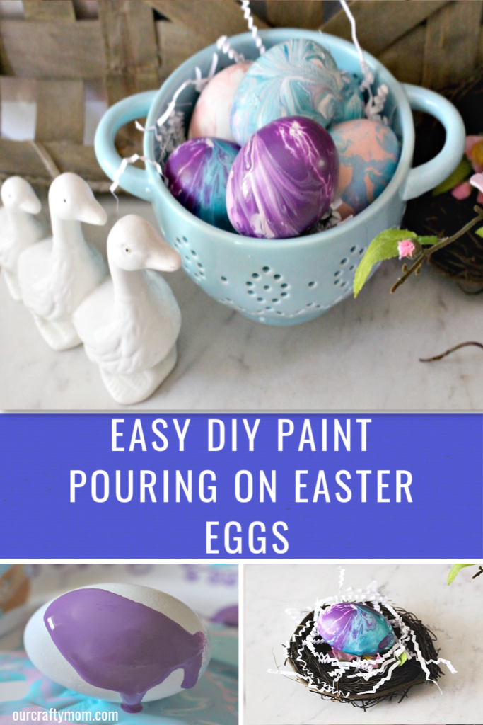 paint poured easter eggs